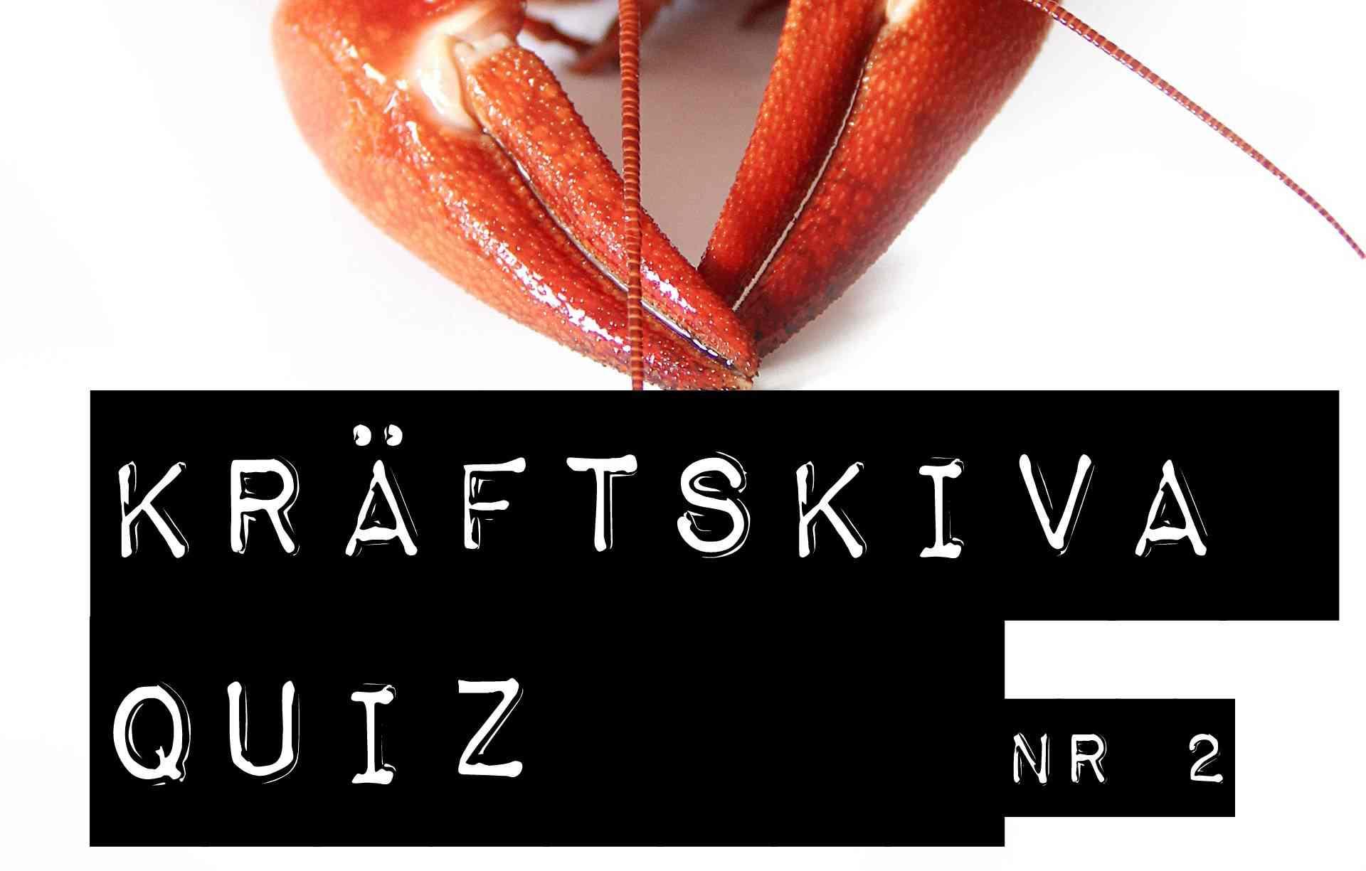 Kräftskiva Quiz Nr 2